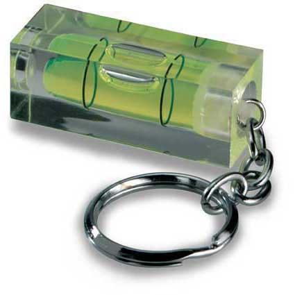 Schlüsselanhänger mit Druck und Wasserwaage