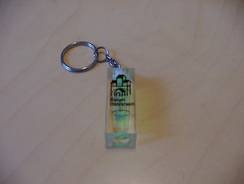 Schlüsselanhänger als Waaserwaage mit Logo