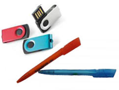 USB-Stick-TWISTER-Kugelschreiber Werbegeschenk Set